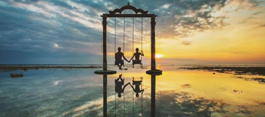 جزر اندونيسيا لشهر العسل