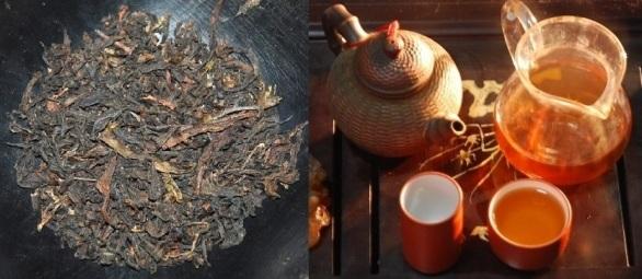 Da Hong Pao Oolong Tee in meiner Teezeremonie