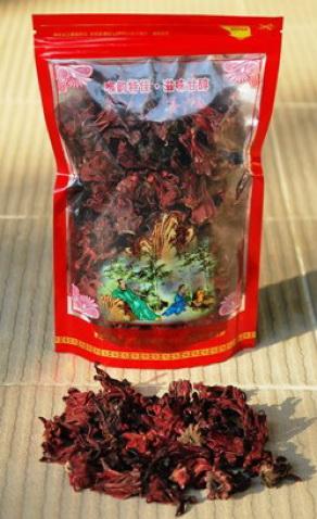 Roselle Hibiskusblütentee (ganze Blüte) aus Thailand im Siam Tee Shop: Produktfoto