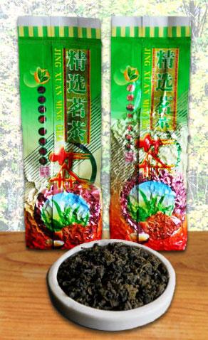 Gerollter Tee der in Nordthailand heimischen Assamica-Teepflanze