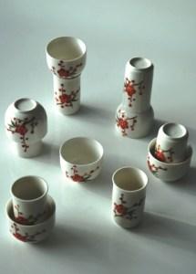 Chinesisches Riechbecher / Trinkschalen Set 'Blossoms 2' für Tee