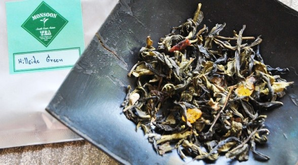 Hillside Blend Green Aromatische Teemischung aus grünem Tee und Aroma-Zutaten