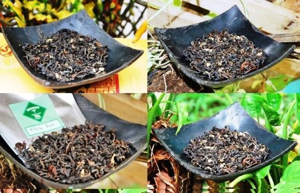 Hillside Blend Black aromatische Teemischung - trockenes Blattmaterial - Collage