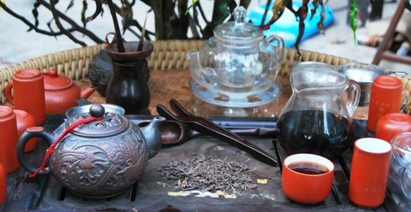 Gereifter Lincang Pu Erh Tee in meiner Gong Fu Cha