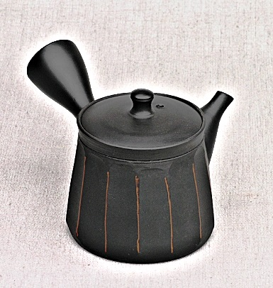 Kyusu-Teekanne, Japan, 120ml, Handarbeit aus Ton