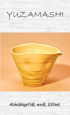 Japanisches Teewasser-Abkühlgefäß, weiß, 220ml