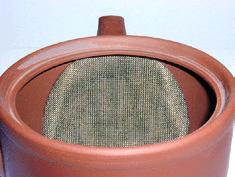 Kyusu Teekannen-Siebtyp Metall, integriert