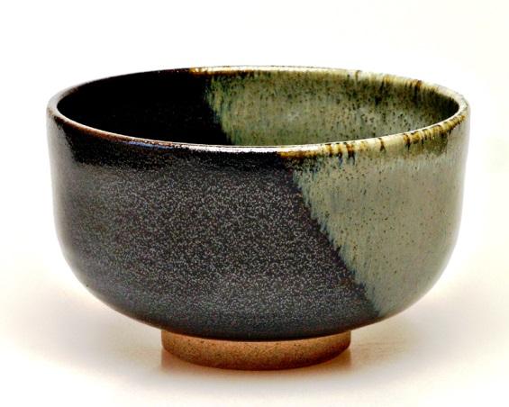 Japansiche Matcha-Schale (Chawan), petrolfarben, 12,5 x 7,5 cm