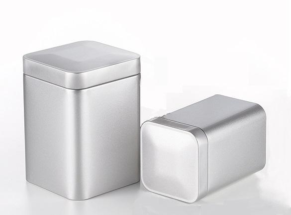 Teedose 'Till', 150g / 250g - Metall, mattsilber