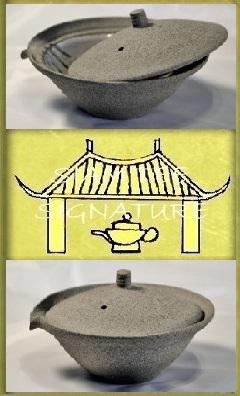 SiamTee Signature Shiboridashi, 100ml - hellgrauer, feinsandiger Ton, mit weißer Innenglasur bis zur Füllhöhe - Karina Klages