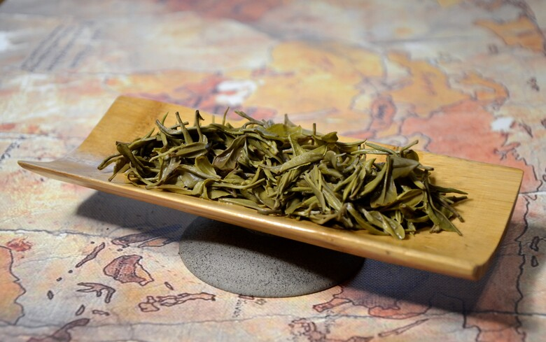Junshan Yinzhen First Grade Yellow Tea - wet leaves after infusion