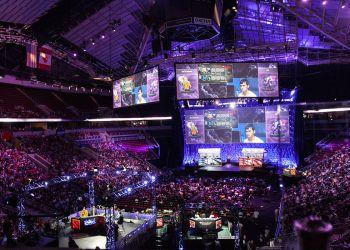 Une compétition internationale d'eSport, sport électronique