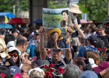 Les partisans de Yingluck s'étaient rassemblés nombreux à proximité de la Cour Suprême