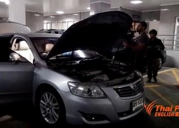 La Toyota Camry qui aurait été utilisée pour organiser la fuite de Yingluck