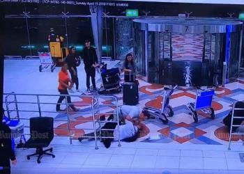 Un américain arrêté pour avoir agressé un employé d'hôtel à Suvarnabhumi