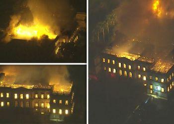 Brésil : un incendie détruit le Musée National abritant 20 millions de pièces
