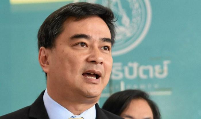 L'ex-Premier Ministre Abhisit Vejjajiva a été une nouvelle fois élu à la tête du Parti démocrate thaïlandais