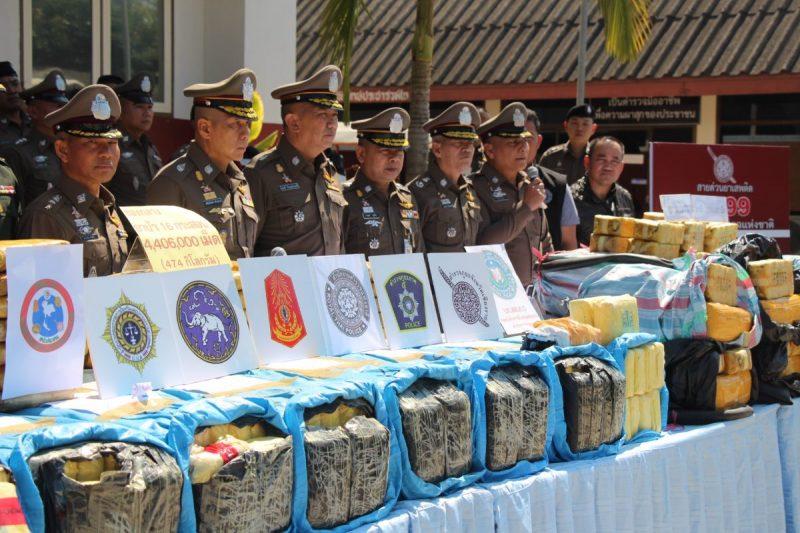 6,4 millions de pilules de méthamphétamine saisies dans le nord de la Thaïlande