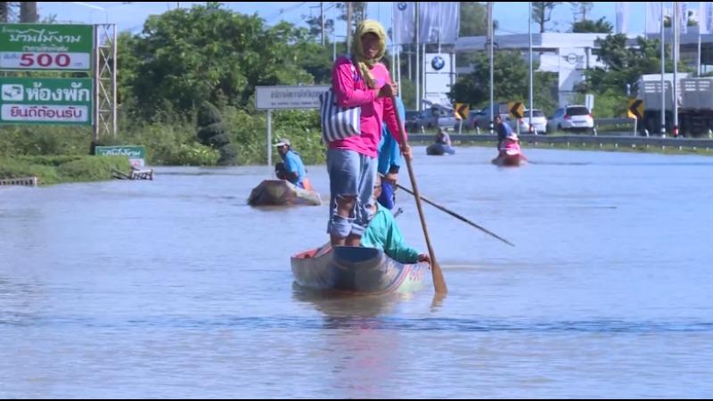 Le nord-est de la Thaïlande toujours frappé par de graves inondations