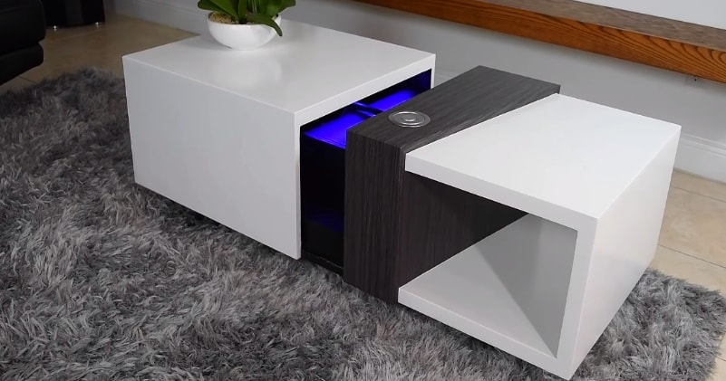 amazing motorized coffee table with