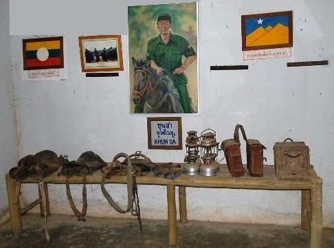 Khun Sa personal belongings and memorabilia at the Khun Sa Museum in Ban Therd Thai