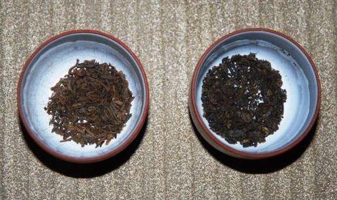 Loose leaf and pressed Phonix shu Pu Erh tea
