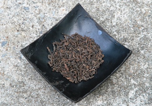 Loose leaves of ripened /cooked Lincang Pu Erh tea