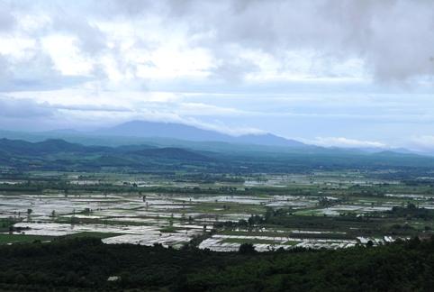 Panoramic view of north Thailand, landscape near Tea Master School venue Doi Mae Salong