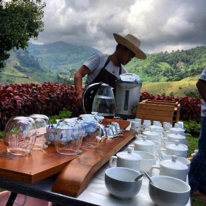 Ready for tea at Doi Mae Salong's tea mastery course