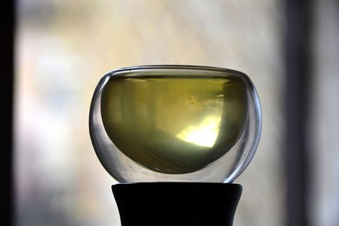 Genmaicha Tea, turquoise green liquor