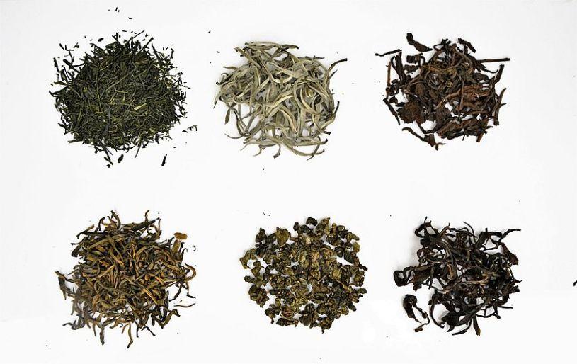 6 Chinese tea categories: black tea, green tea, white tea, Oolong tea, yellow tea, Pu Erh tea