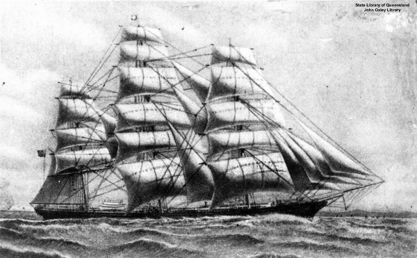 "British tea clipper ""Cutty Sark"""