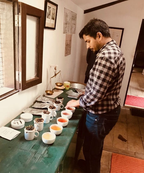 The Tea Leaf Theory founder Upamanyu Borkakoty at tea tasting