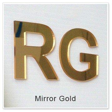 Litere volumetrice Plexiglas Gold
