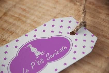 Eticheta carton Le p`tit Souricate