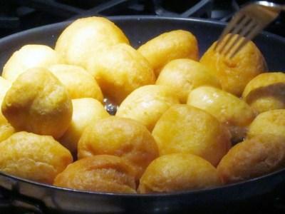 frying dumplings