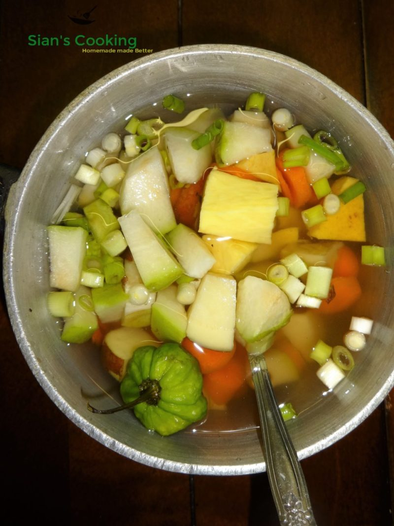 soup-veggies-with-yellow-yam-and-scotch-bonnet