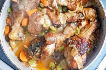 Jamaican style brown stew chicken