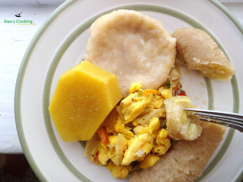 ackee and saltfish meal