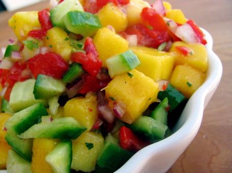 Mango- Cucumber Salsa