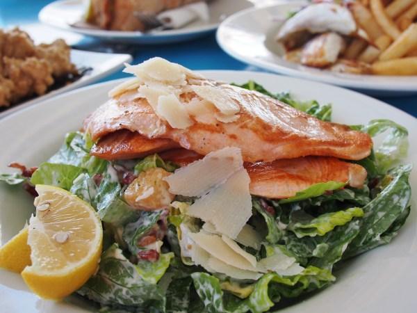salmon caesar salad -522483