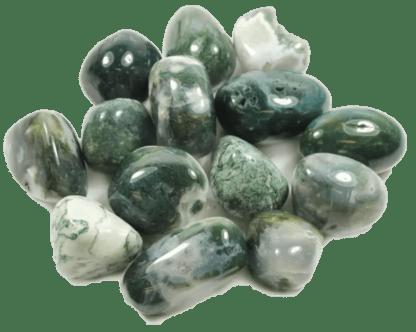 Moss green agate