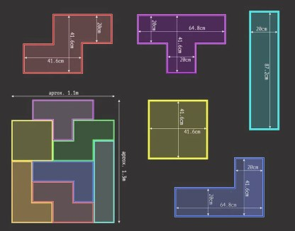 Example tetromino dimensions