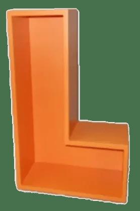 Tetromino L shape classic orange