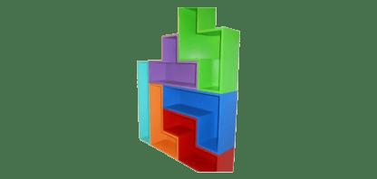 Small Tetris like wall shelf unit