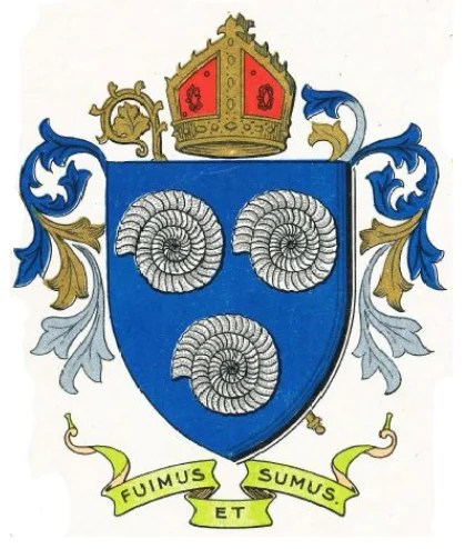 Old Whitby coat of arms of Ammonites