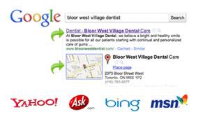 dental wesite design optimisation