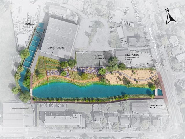 Plan travaux ré-aménagement du bassin des cressonnières