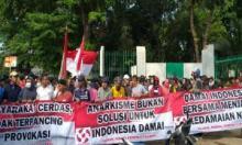 Aksi Damai di Patung kuda Jakarta, Ini Pesannya