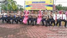 61 Personil Polres Bengkalis Riau Naik Pangkat
